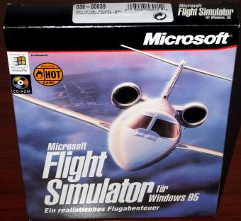 Microsoft Flight Simulator für Windows 95 in OVP mit Flugbuch