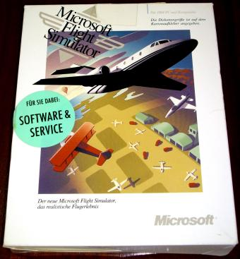 Microsoft Flight Simulator Vers. 4.0 - DOS 720kb Disketten 1992