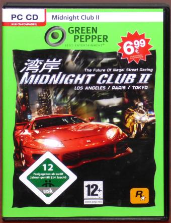 Midnight Club II Los Angeles/Paris/Tokyo PC CD-ROM Rockstar Games 2008