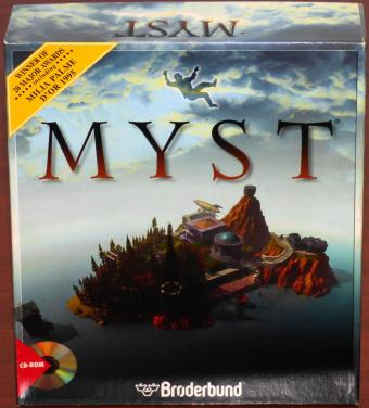 Myst Winner of 20 Major Awards Milia Palme D'or 1995 PC CD-ROM Hinweise ungeöffnet in OVP Broderbund/Cyan 1995