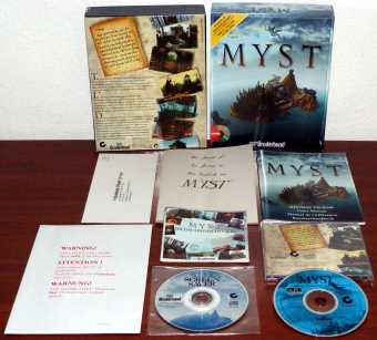 Myst - inklusive Bildschirmschoner/Screensaver CD - Broderbound/Cyan 1995