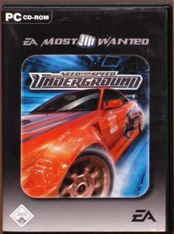 Need for Speed - Underground PC CD-ROM EA moost wanted Electronic Arts 2004