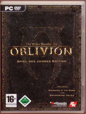 Oblivion The Elder Scrolls IV Spiel des Jahres Edition inkl. Knights of the Nine und Shivering Isles PC DVDs & Landkarte Bethesda/2K Games 2007