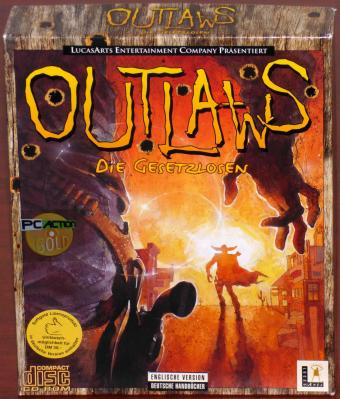 Outlaws - Die Gesetzlosen PC CD-ROMs Englische Version inkl. Deutsche Handbücher Lucas Arts Entertainment Company/Softgold Bigbox 1997