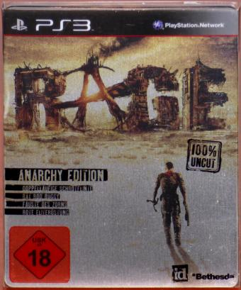 PS3 Rage Steel-Book Anarchy Edition 100% Uncut Playstation 3 Blu-Ray id/Bethesda 2011