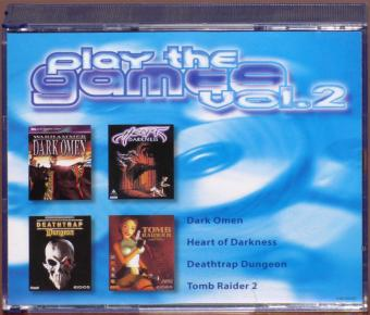 Play the Game Vol. 2 Spielesammlung inkl. Dark Omen, Heart of Darkness, Deathtrap Dungeon & Tomb Raider 2, PC CD-ROM Electronic Arts/Infogrames/Eidos 1997-98