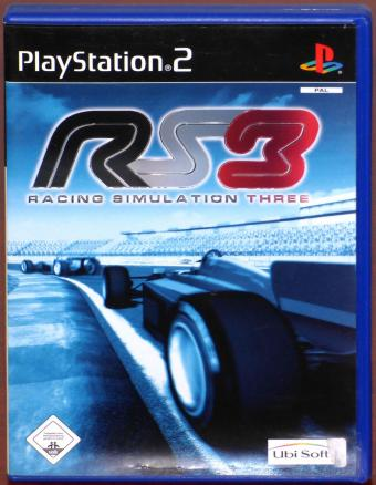 PlayStation 2 (PS2) RS3 Racing Simulation Three for Force Feedback Lenkrad UbiSoft 2003