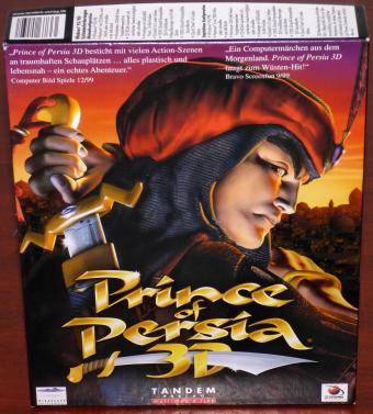 Prince of Persia 3D Wüsten-Hit 2PC CD-ROMs Mindscape Entertainment/Tandem Verlag 1999