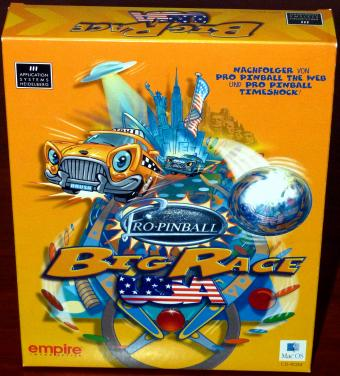 Pro Pinnball - Big Race USA & Timeshock - Application Systems Heidelberg/empire Interactive Mac-OS CD 1999