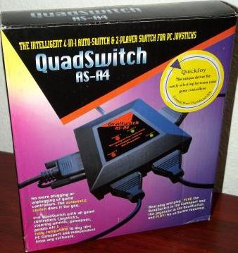 QuickJoy AS-A4 intelligenter Quad Auto-Switch, 4-in-1 PC Gameport-Controller