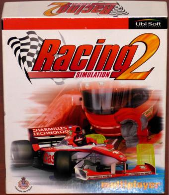 Racing Simulation 2 Multiplayer, Empfohlen von Kai Ebel, mit 17 Grand Prix Rennstrecken, for Voodoo2 in OVP UbiSoft 1998