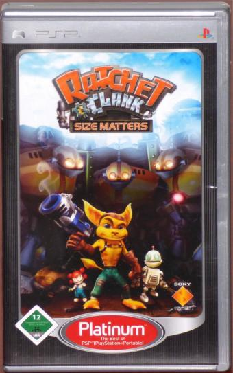 Ratchet & Clank Size Matters PSP (PlayStation Portable) Platinum UMD (Universal Media Disc) Sony 2007
