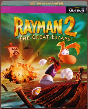 Rayman 2 The Great Escape PC CD-ROM inkl. Handbuch & Landkarte 3Dfx OVP/Bigbox Ubisoft 1999