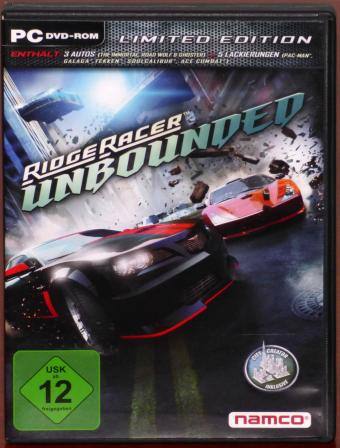 Ridge Racer Unbounded - Limited Edition PC DVD-ROM Bugbear/Namco Bandai Games Inc. 2012