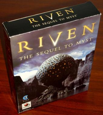 Riven - The Sequel to Myst - Cyan Worlds / Red Orb Entertainment 5CDs 1997