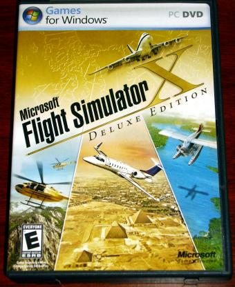 Microsoft Flight Simulator X - Deluxe-Edition 2 DVDs englische Version