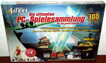 Sierra - Die ultimative PC-Spielesammlung 5-CDs 1999 Silent Thunder, Civil War,  3D Ultra Minigolf, Return to Krondor, Nascar Racing, Torins Passage, Indy Car Racing II