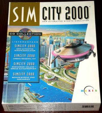 SimCity 2000 CD-Editon mit Urban Renewal Kit OVP