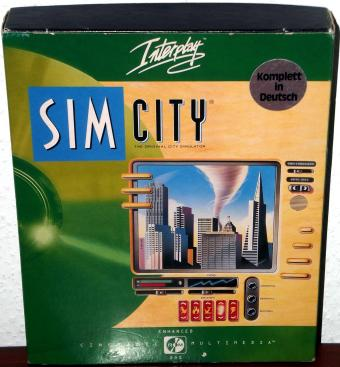SimCity - CD Version OVP komplett in Deutsch von Maxis/Interplay Productions 1993