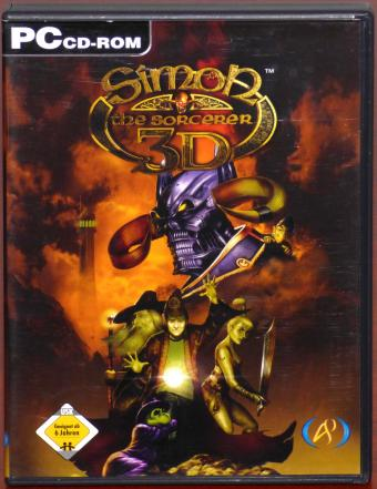 Simon the Sorcerer 3D PC 2x CD-ROMs Adventure Soft Publishing 2002