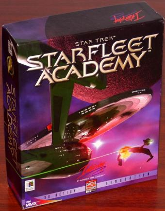 Star Trek Starfleet Academy 3D Action Simulation 5 PC CD-ROMs inkl. Ausbildungshandbuch für Kadetten & Lerntafel OVP in Bigbox Paramount Pictures/Interplay Productions 1997