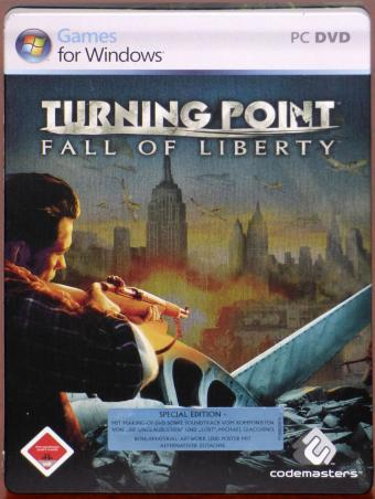 Turning Point - Fall of Liberty Special-Edition PC DVDs in Steel-Book, Limited-Artwork Soundtrack & Timeline Codemasters 2006