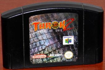 Turok 2 Seeds of Evil N64 Game Pak Akklaim/Nintendo 1997