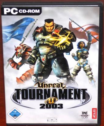 Unreal Tournament 2003 auf 3 PC CD-ROMs Win98/XP Epic Games/ATARI