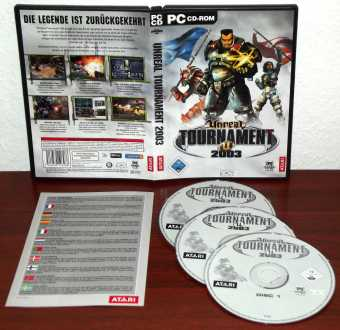 Unreal Tournament 2003 auf 3 CDs