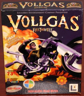 Vollgas - Full Throttle - Interactive Road Movie, PC CD-ROM in OVP LucasArts Entertainment Company/Polecats Softgold Computerspiele GmbH 1994