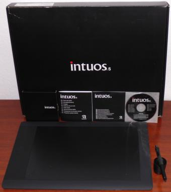 Wacom Intuos 5 touch Large, Pen Tablet Model: PTH-850 USB inkl. Grip Pen & Software-CD OVP