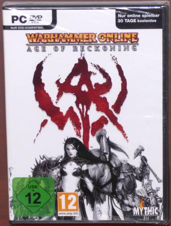 Warhammer Online - Age of Reckoning PC DVD OVP Mythic Entertainment/Games Workshop 2008