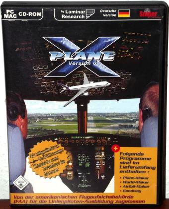 X-Plane 6 Flugsimulator, PC/MAC CD-ROM, Laminar Research 2001