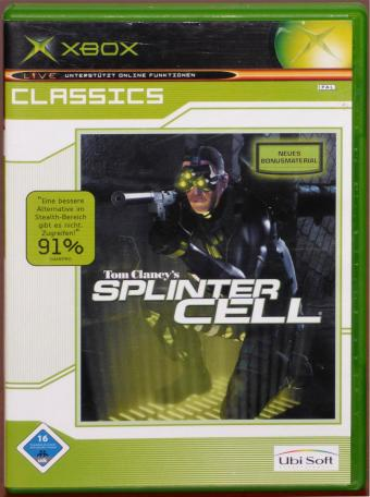 XBOX Tom Clancy's - Splinter Cell Komplett deutsche ungeschnitte Version Ubisoft 2002