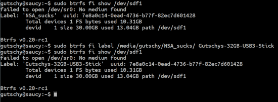 btrfs, B-tree FS, Butter FS